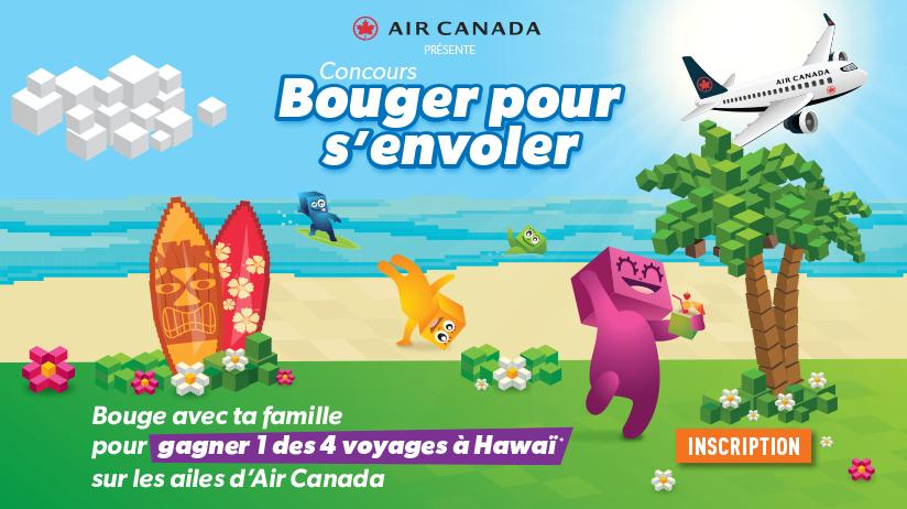 Concours Bouger pour s'envoler présenté par Air Canada