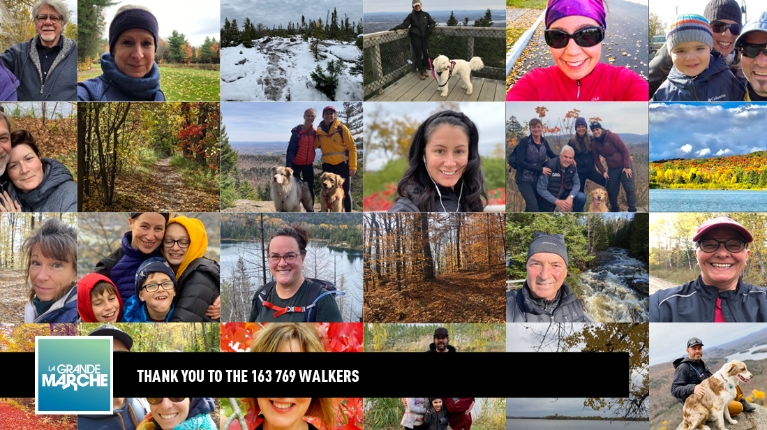 Thank you to the 163 769 walkers