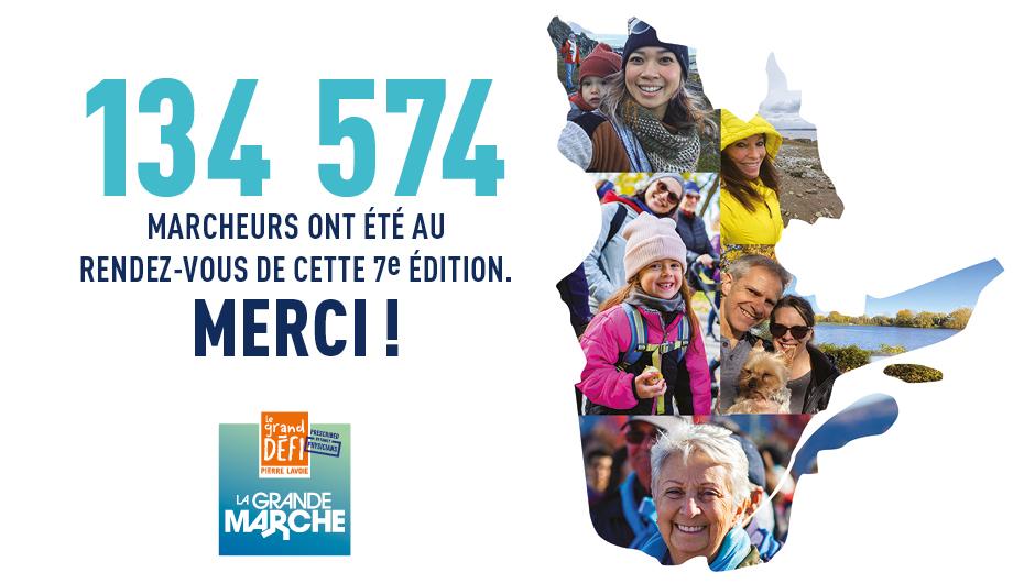 La Grande marche - Merci aux 134 574 participants
