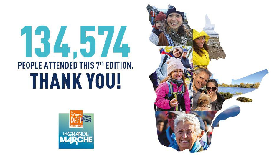 La Grande marche - Thanks to the 134 574 participants
